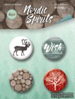 Набор скрап-фишек для скрапбукинга от Scrapmir - Nordic Spirits, 4 шт.