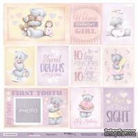 Лист односторонней бумаги от Scrapmir - Карточки 2 ENG из коллекции Daddy's Princess, 30x30 см