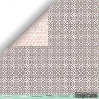 Лист двусторонней бумаги от Scrapmir - Цветочный узор из коллекции Happy Days, 30x30см, 10шт