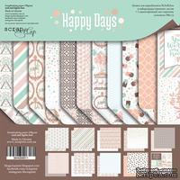 Набор двусторонней бумаги от Scrapmir - Happy Days, 30х30см, 10шт - ScrapUA.com