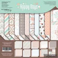 Набор двусторонней бумаги от Scrapmir - Happy Days, 20х20см, 10шт - ScrapUA.com