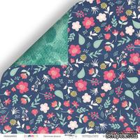 Лист двусторонней бумаги от Scrapmir - Цветочная феерия из коллекции Summer, 30x30 см