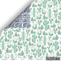 Лист двусторонней бумаги от Scrapmir - Кактус из коллекции Summer, 30x30 см