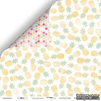 Лист двусторонней бумаги от Scrapmir Ананасовая роща из коллекции Summer, 30x30 см