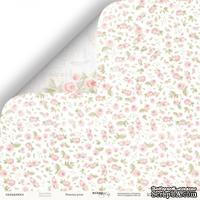 Лист двусторонней бумаги от Scrapmir - Нежные розы из коллекции Beautiful Moments, 30x30см, 10 шт