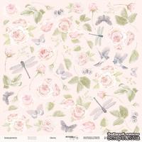 Лист односторонней бумаги для вырезания от Scrapmir - Цветы - Beautiful Moments, 30x30 см
