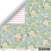 Лист двусторонней бумаги от Scrapmir - Цветочный орнамент - Pur Pur, 30x30 см