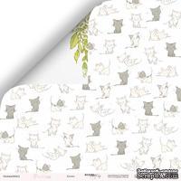 Лист двусторонней бумаги от Scrapmir - Котята из коллекции Pur Pu, 30x30 см