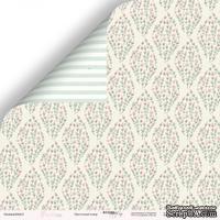 Лист двусторонней бумаги от Scrapmir - Цветочный ковёр из коллекции Pur Pur, 30x30 см