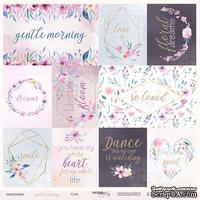 Лист односторонней бумаги от Scrapmir - Cards из коллекции Gentle Morning, 30x30 см
