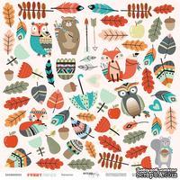 Лист односторонней бумаги для вырезания от Scrapmir - Цветы из коллекции Funny Friends, 30x30 см - ScrapUA.com