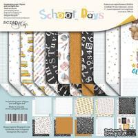 Набор двусторонней бумаги от Scrapmir - School Days, 20х20см, 11 шт - ScrapUA.com