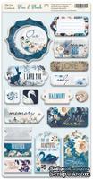 Чипборд для скрапбукинга от Scrapmir - Blue & Blush ENG, 18 шт