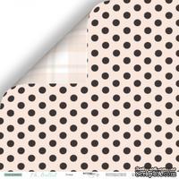 """Лист двусторонней бумаги от Scrapmir - Точки - коллекция """"Oh, Ballet"""",  30x30 см"""