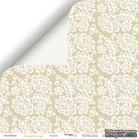 Лист двусторонней бумаги от Scrapmir - Кружево из коллекции Tenderness,  30x30 см