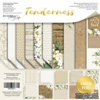 Набор двусторонней бумаги с золотым тиснением  от Scrapmir - Tenderness, 30х30см, 10шт - ScrapUA.com