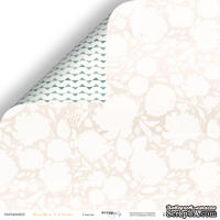 """Лист двусторонней бумаги от Scrapmir - Счастье - коллекция """"Peaches & Cream"""",  30x30 см"""