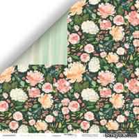 Лист двусторонней бумаги от Scrapmir - Акварель - Peaches & Cream, 30x30см