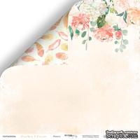 Лист двусторонней бумаги от Scrapmir - Радость - Peaches & Cream, 30x30см