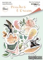 Набор высечек для скрапбукинга 69шт от Scrapmir Peaches & Cream Плотность 250г/м