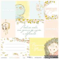 Лист односторонней бумаги 30x30 от Scrapmir Карточки на русском языке из коллекции Boy or Girl