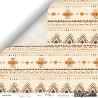 Лист двусторонней бумаги от Scrapmir - Этника - Family Tree, 30x30см