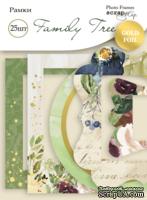 Рамки для фотографий с золотым фольгированием 25 шт от Scrapmir Family Tree