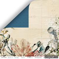 Лист двусторонней бумаги от Scrapmir - Кораллы - Nautical Graphic, 30x30см