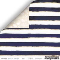 Лист двусторонней бумаги от Scrapmir - Море - Nautical Graphic, 30x30см