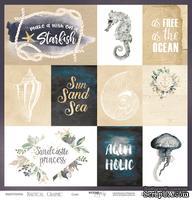 Лист односторонней бумаги от Scrapmir - Cards - Nautical Graphic, 30x30см