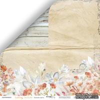 Лист двусторонней бумаги от Scrapmir - Осенние цветы - Falling in Love,  30x30см