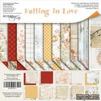 Набор двусторонней бумаги от Scrapmir - Falling in Love, 30х30см, 11шт - ScrapUA.com