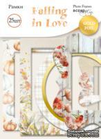Рамки для фотографий с золотым фольгированием от Scrapmir - Falling in Love, 25 шт