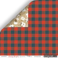 Лист двусторонней бумаги от Scrapmir - Красный Плед - Merry Christmas, 30x30см