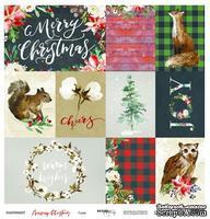 Лист односторонней бумаги от Scrapmir - Cards - Merry Christmas, 30x30см