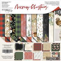 Набор двусторонней бумаги от Scrapmir - Merry Christmas, 20х20см , 11шт - ScrapUA.com