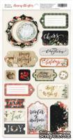 Чипборд для скрапбукинга от Scrapmir - Merry Christmas ENG, 18шт