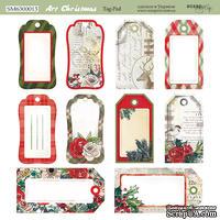 Лист двусторонней бумаги от Scrapmir - Tag-Pad - Art Christmas, 20х20см