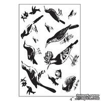 """Акриловые штампы от Maya Road """"Ornate Feathered Friends"""", 10х15,2 см, 13 шт."""