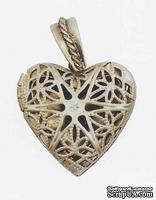 Металлическое украшение от Stanislaus - Сердечко, размер 2,5х2,5 см, 1 шт.