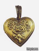 Металлическое украшение от Stanislaus - Сердечко, размер 2,9х2,9 см, 1 шт.
