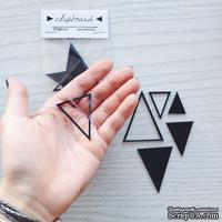 Черный акриловый чипборд SODAlicious - Triangles