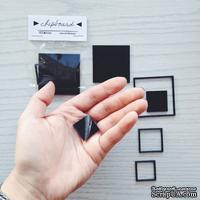Черный акриловый чипборд SODAlicious - Squares