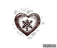 Акриловый штамп Christmas Stamp SR024 Сердце, размер 3,2 * 3 см