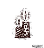 Акриловый штамп Christmas Stamp SR027 Свечи, размер 2,3 * 3,2 см