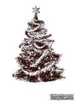 Акриловый штамп Christmas Stamp SR040b Елка, размер 4 * 5,7 см