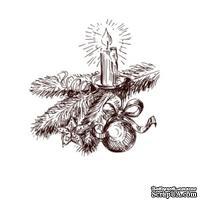 Акриловый штамп Christmas Stamp SR042 Свеча, размер 4,7 * 4,9 см