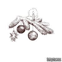 Акриловый штамп Christmas Stamp SR044 Свеча, новогодние атрибуты, размер 5,5 * 4,1 см
