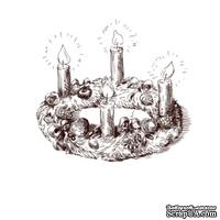 Акриловый штамп Christmas Stamp SR045 Свечи, размер 4,4 * 4,1 см