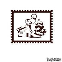 Акриловый штамп Christmas Stamp SR056 Новогодняя марка, размер 3,4 * 2,6 см